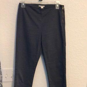 Dark gray stretchy pants w/ side zipper